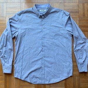 Men's Ben Sherman Blue Button Down Shirt Blue, 2XL